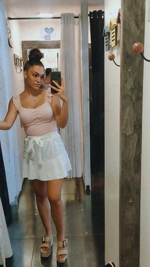 falda pantalon corta blanca